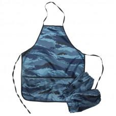 Фартук с нарукавниками ArtSpace, 54*45см, 3 кармана, камуфляж синий ArtSpace ФН_1820
