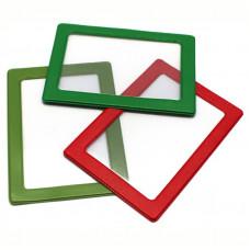 Обложка-карман для проездных документов (50шт.) ДПС, с цветной рамкой, 75*105мм, ПВХ, ассорти ДПС 2862/50