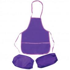 Фартук с нарукавниками ArtSpace, 48,5*39,5см, 2 кармана, фиолетовый ArtSpace ФСН_17717