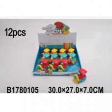 Игрушка заводная паровозик, цвет в ассорт. 899-9D в дисплее уп-12шт в кор.2*12уп